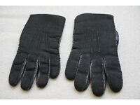 Portuguese Winter Black Leather Men Gloves (includes small gift)