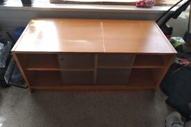 Sturdy TV cabinet 4 shelves