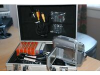 Sony Mega Pixel Handycam with attachments and extras