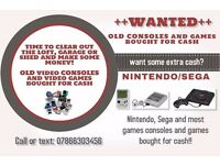 Wanted/cash paid for Nintendo, Sega, Atari, Amiga, PlayStation 1/2 old games and toys