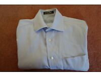 "Louis Philippe Blue Shirt, collar size 15.5"""