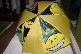 Childs Mr Happy Umbrella
