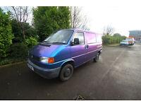 Volkswagen T4 van, ready for camper/day van conversion. Expensive colour change professional wrap