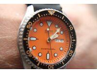 Seijko Scuba Diver's automatic wristwatch - Japan - '97 - 7S26-0020 - Orange dial