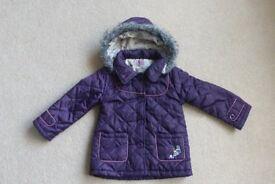 Girls Purple Coat F&F 2-3 years