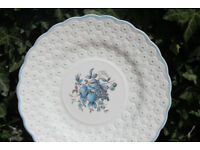 Unusual Vintage Cake / Sandwich Plate Spode Copeland 1940 Retro Raised Flowers Spode