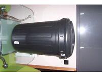 Dustbin for refuge or garden, Large Black Plastic 80L Bucket, New, never used.