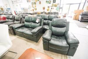 BLACK OR BROWN RECLINER SETS BRAND NEW IN BOX MUST GO!!!!! WAREHOUSE BLOWOUT!!!!