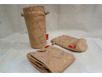 Storksak, two Insulated Bottle Holders and Changing Mat, excellent condition.