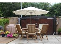 6 seater garden table and chairs for sale