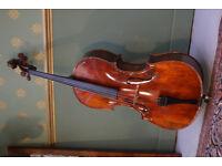 Italian Cello for sale! Stradivari Model 4/4 with beautiful figured Maple