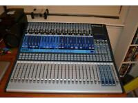 24 channel mixing desk and speakers + stands