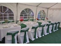 Party tents, tables and chairs, roof lining, carpet for hire