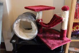 Cat tree and tunnel for sale
