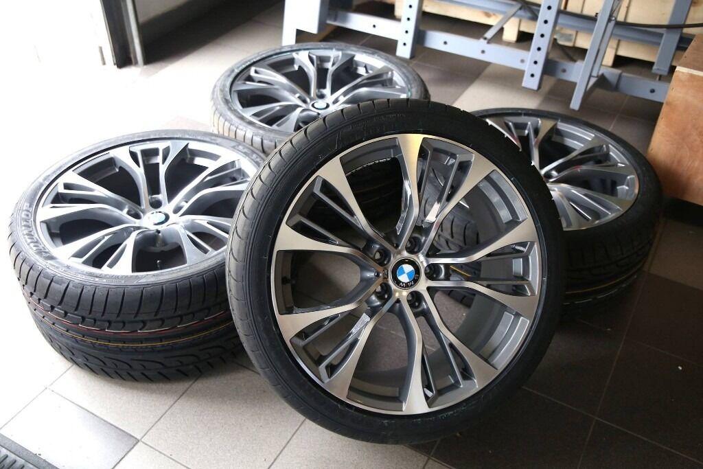 New Bmw M 21 Inch R21 X5 X6 F15 F85 E70 E71 Rims With Tyres Wheels Set Dunlop Runflat Uk