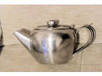 Small Teapot, Stainless Steel with Curved Handle, Good Clean Condition, Histon