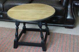 mid century Solid Oak Lamp side table