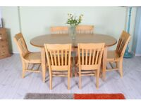 LOVELY LARGE KITCHEN TABLE WITH 6 CHAIRS - CAN COURIER - FREE LOCAL DELIVERY