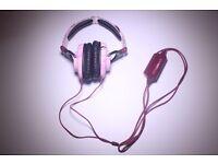 Skullcandy Skullcrushers Peace Love Noise Headphones (purple, white, black) good condition