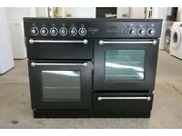 Rangemaster Range Cooker Fan Assisted Oven 110cm All Electric in Black in VGC