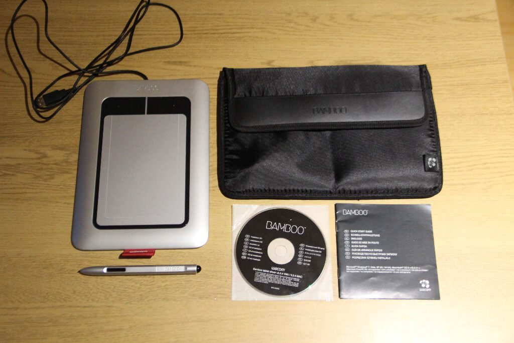 Wacom bamboo tablet driver with pen and carry case | in
