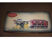CORGI 1/50 SCALE J.FOWLER BG STEAM TRACTOR WITH SHOWMANS CARAVAN GIFT SET MINT & BOXED.