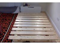 Bed frame. Pine. King Size.