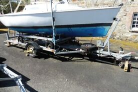 MICRO PUPPETEER, LIFTING KEEL TRAILER SAILER, EXCELLENT COMBI TRAILER ONLY £3750