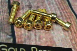 Zylinderschraube mit Innensechskant M6x16 GOLD vergoldet M6 Schraube 24-Karat