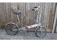 1980 Vintage Bickerton Lightweight Folding Bike Garaged Stored 30 Years ! ** Restoration Project **