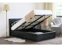 ⚡️⚡️⚡️SALEE PRICE⚡️⚡️⚡️BRAND NEW DOUBLE OTTOMAN STORAGE BED FRAME ( BLACK,BROWN & WHITE )