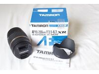 Almost New Tamron Aspherical [IF] MACRO AF 18-200mm F/3.5-6.3 XR Di II LD Lens-Canon fit with hood