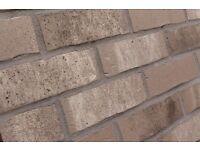 Brick tiles (slips) Antic grey, white , ref. NF764 Hand moulding optic ,
