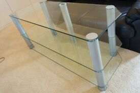 2 Tier Glass TV HiFi Media Entertainment unit stand
