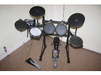 Roland TD-6V Electronic Drum Kit complete with Stool and Headphones and Drum Sticks
