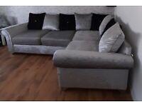 Velvet double corner sofa