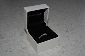 Pandora Sparkling Heart Stacking Ring CZ Size 50