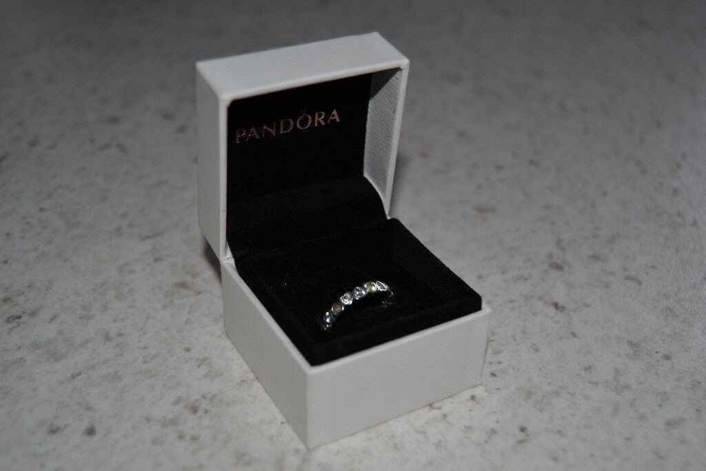 fcbd9e3be Pandora Sparkling Heart Stacking Ring CZ Size 50 | in Ilkeston ...