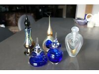 5 Glass Perfume Bottles