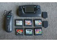 Console Sega Game Gear (new caps) with 6 games and battery