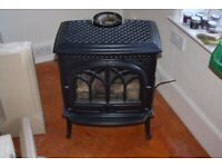 Jotul 3 Gas black enamel cast iron (wood burner look) stove