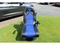 x rocker gaming chair and thrust master ferrari steering wheel