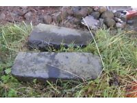 2 Black Basalt threshold stones