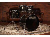Yamaha Maple Custom Original/Gold Lugs | Smoked Ebony | 10, 12, 14 & 22 Shell Pack NATAL DW GRETSCH