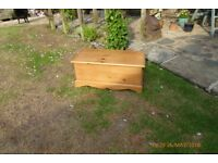 sold pine bedding box / toy box in very good condition