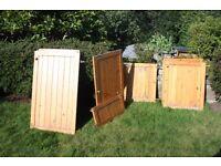 Job Lot of 15 Solid Wood Kitchen Cabinet Doors