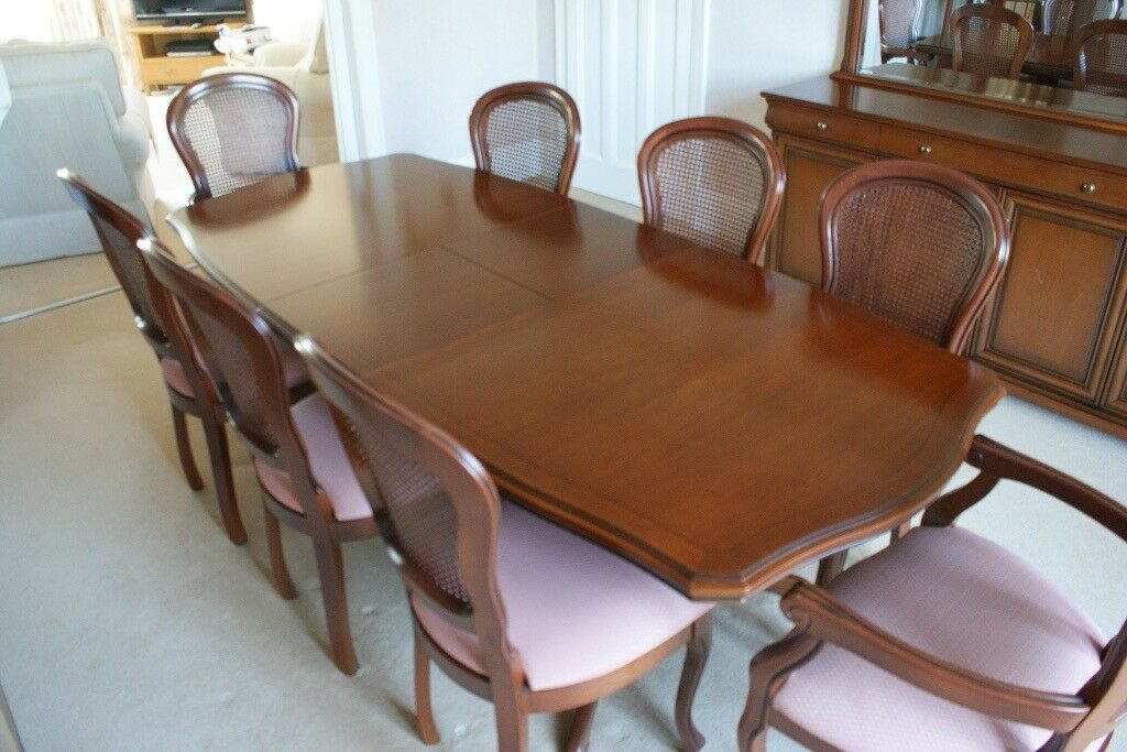 Stag Versaille Dining Table 8 Chairs Sideboard Mirror And Carving For Sale Plymouth