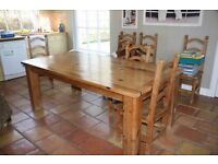 Pine Kitchen Table plus chairs (optional)
