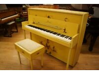 Monington & Weston 'Chinoiserie' upright piano and stool - Tuned & UK delivery available