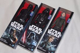 """3x STAR WARS ROGUE ONE 12"""" FIGURES (DARTH VADER / IMPERIAL DEATH TROOPER / SERGEANT JYN ERSO) - NEW"""